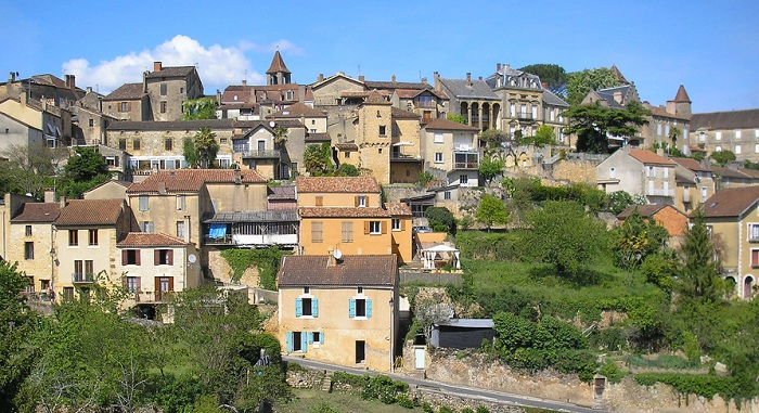 Belvès in Dordogne - village of seven bell towers
