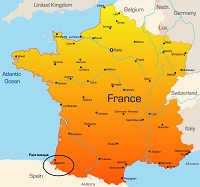 carte france pays basque