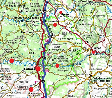 Map Of Lot France.Allow Yourself To Be Charmed By The Lot Region In France