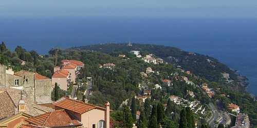 Cap Martin from the old Roquebrune