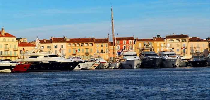 The old port of St Tropez in France